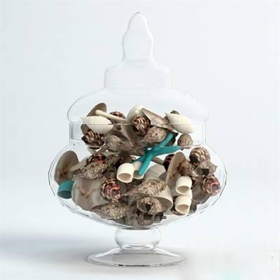 透明玻璃储物罐3D模型【ID:615230427】