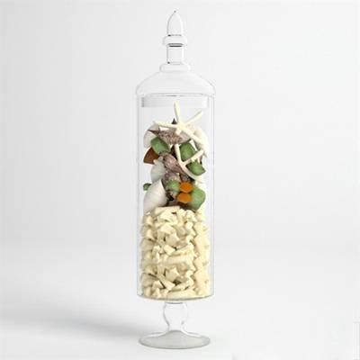 透明玻璃储物罐3D模型【ID:615230454】