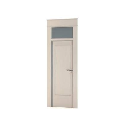现代白色木艺单开门3D模型【ID:615252724】