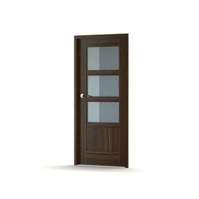 现代玻璃单开门3D模型【ID:615254735】