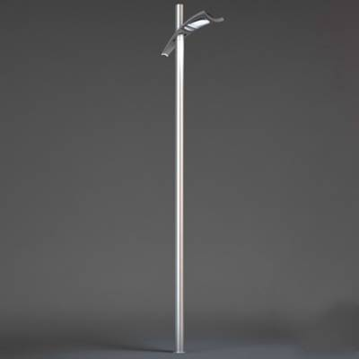 现代银色铁艺花园灯3D模型【ID:615256839】