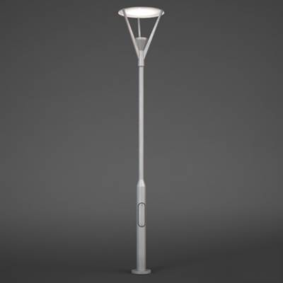 现代银色铁艺花园灯3D模型【ID:615256850】