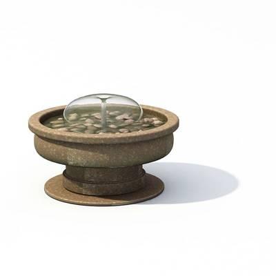 现代景观水池3D模型【ID:615380773】