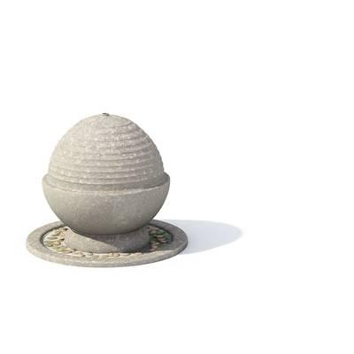 现代景观水池3D模型【ID:615380777】