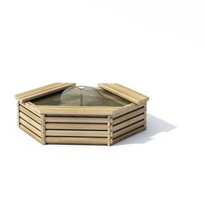 现代景观水池3D模型【ID:615380784】
