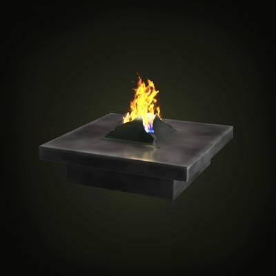 黑色铁艺壁炉3D模型【ID:615424731】