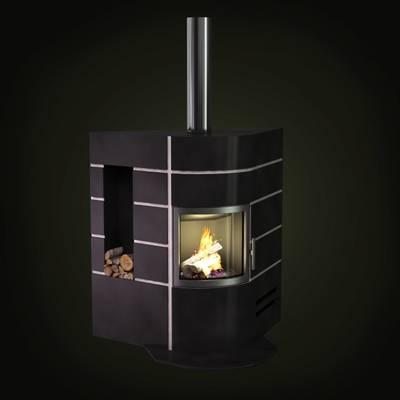 黑色铁艺壁炉3D模型【ID:615424744】