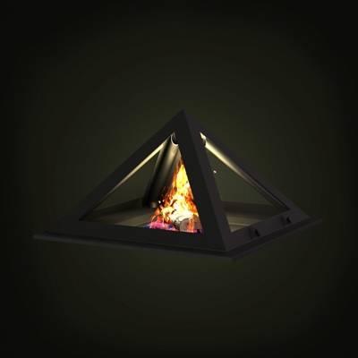 黑色铁艺壁炉3D模型【ID:615424748】