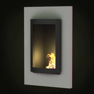 黑色铁艺壁炉3D模型【ID:615425747】