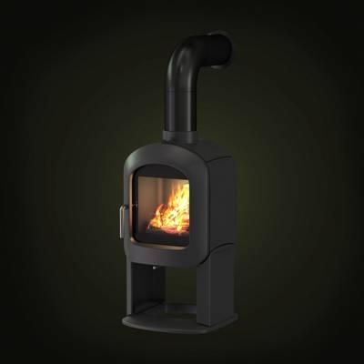 黑色铁艺壁炉3D模型【ID:615426799】