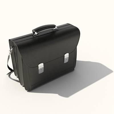 黑色皮质手提包3D模型【ID:615429161】
