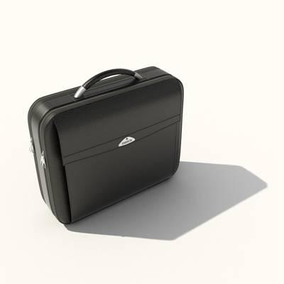 黑色皮质手提包3D模型【ID:615429167】