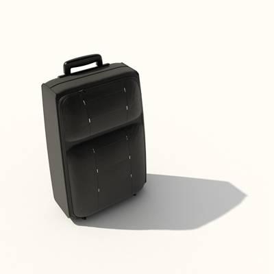 黑色布艺行李箱3D模型【ID:615430072】