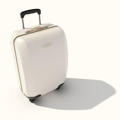 米色塑料行李箱3D模型【ID:615430081】