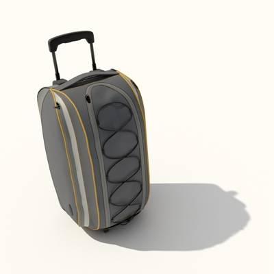 灰色布艺行李箱3D模型【ID:615430086】