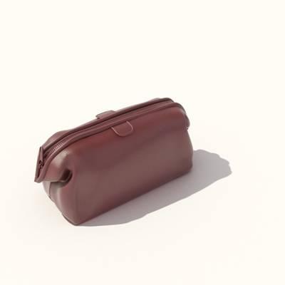 红色皮质手提包3D模型【ID:615430124】