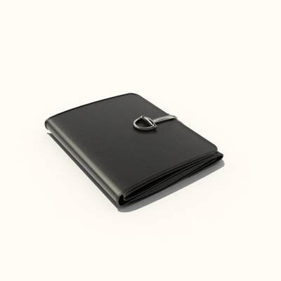 黑色纸质钱包3D模型【ID:615432288】