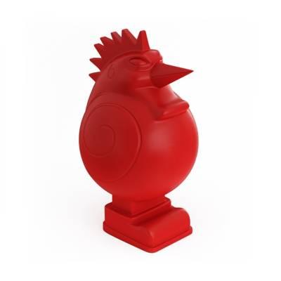 红色陶艺储物罐3D模型【ID:615433424】