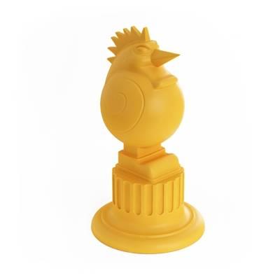 黄色陶艺储物罐3D模型【ID:615433429】