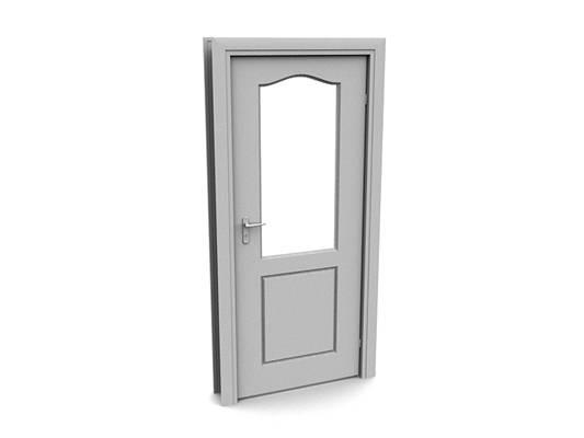 现代白模木艺单开门23D模型【ID:615473776】