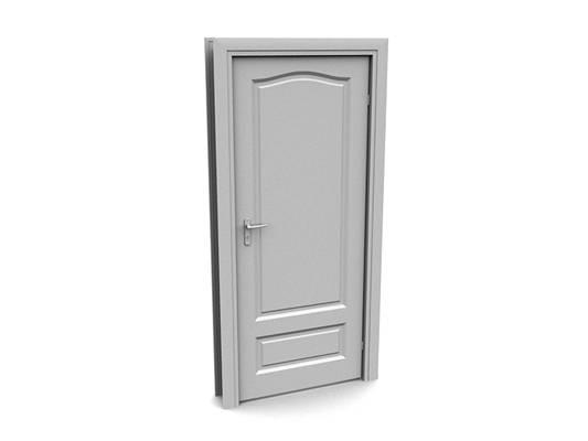 现代白模木艺单开门163D模型【ID:615474700】