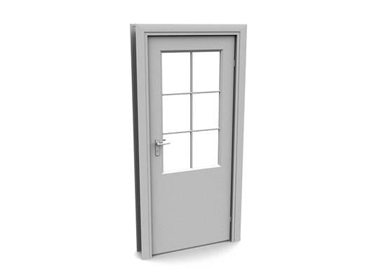 现代白模木艺单开门253D模型【ID:615474720】