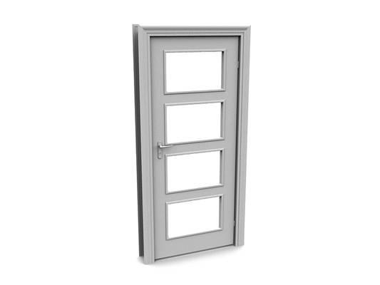 现代白模木艺单开门303D模型【ID:615474729】