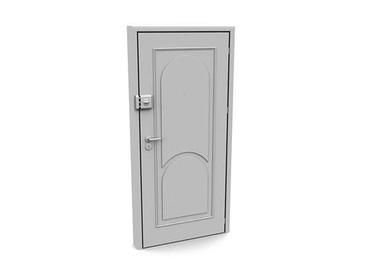 现代白模木艺单开门323D模型【ID:615474733】