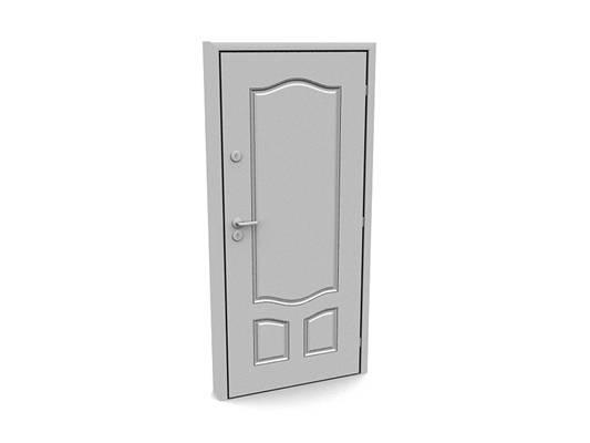 现代白模木艺单开门353D模型【ID:615474740】