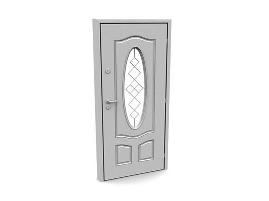 现代白模木艺单开门363D模型【ID:615474742】