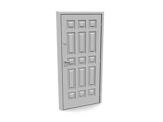 现代白模木艺单开门423D模型【ID:615474753】