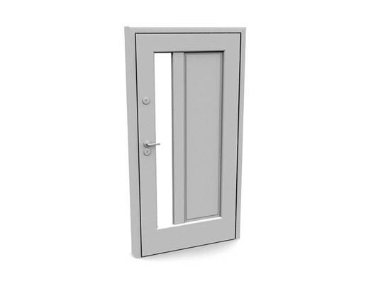 现代白模木艺单开门453D模型【ID:615474759】