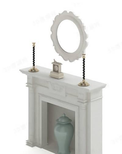 大理石壁炉283D模型【ID:616921623】