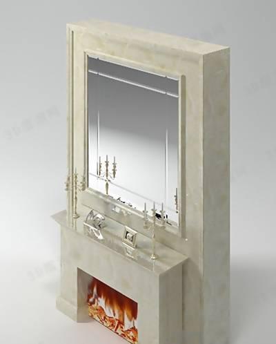 大理石壁炉363D模型【ID:616921652】