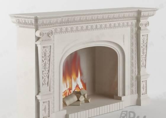 大理石壁炉373D模型【ID:616921660】