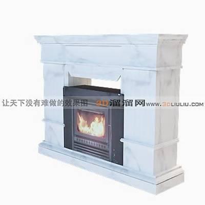 大理石壁炉493D模型【ID:616922605】