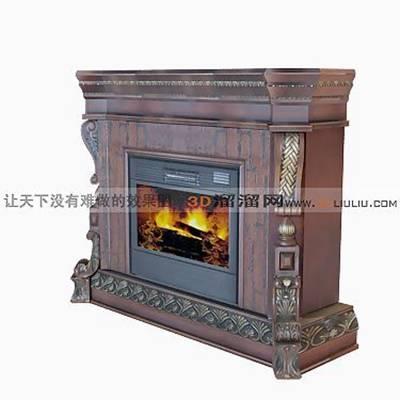 大理石壁炉533D模型【ID:616922616】