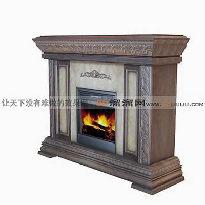 大理石壁炉543D模型【ID:616922617】