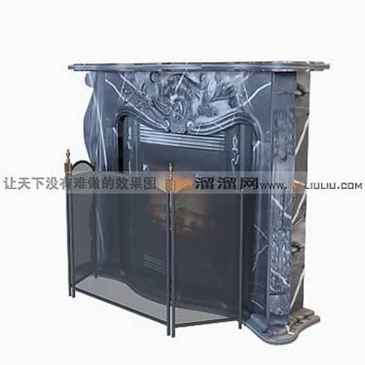 大理石壁炉553D模型【ID:616922620】