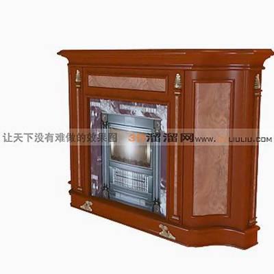 大理石壁炉563D模型【ID:616922627】