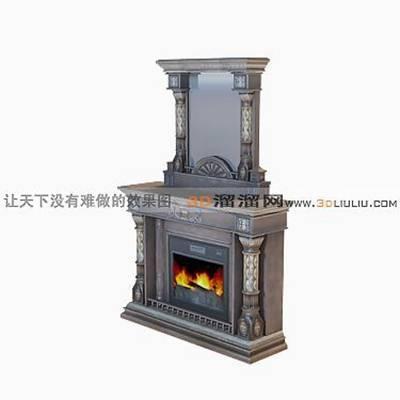 大理石壁炉573D模型【ID:616922631】