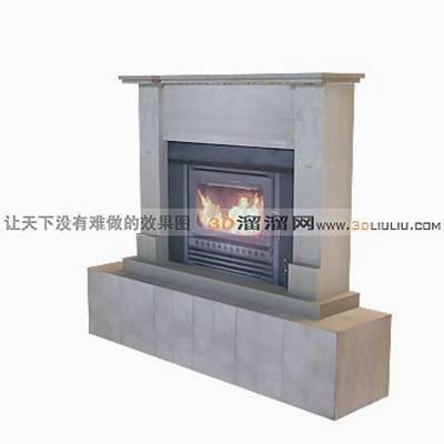 大理石壁炉593D模型【ID:616922645】