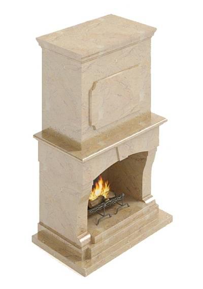 大理石壁炉763D模型【ID:616923637】