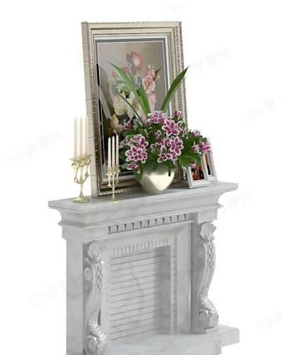 装饰柜壁炉23D模型【ID:616935847】