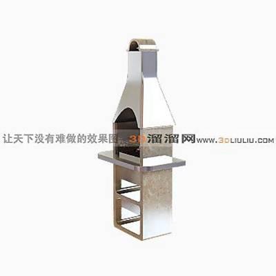 铁艺壁炉273D模型【ID:616936786】