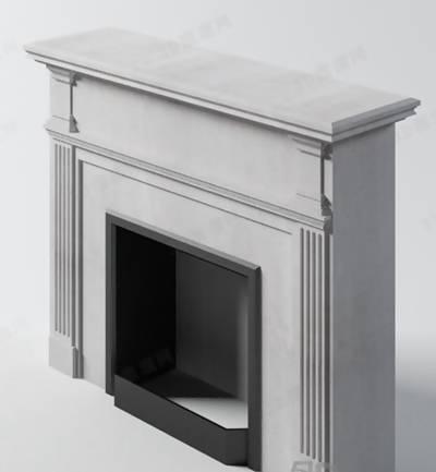 装饰柜壁炉173D模型【ID:616936835】