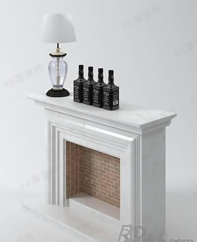 装饰柜壁炉253D模型【ID:616936880】