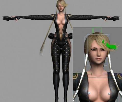 女人83D模型【ID:616939589】