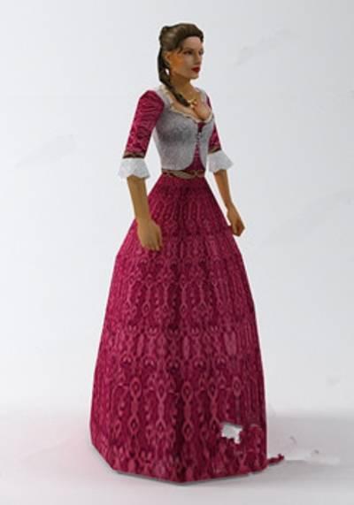 女人113D模型【ID:616939593】