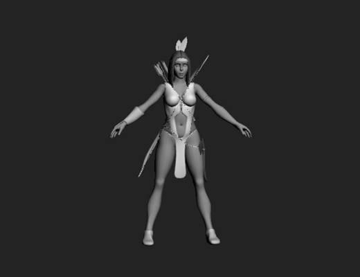 女人253D模型【ID:616940524】